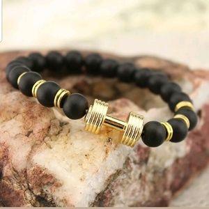 Matte black Dumbell fitness bracelet!